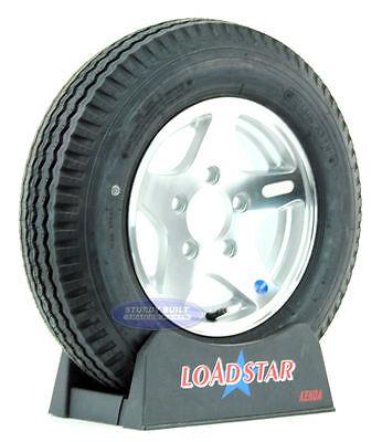 "Boat Trailer Tire by LoadStar 5.30x12 Aluminum Wheel 5.30-12 5 Lug Bolt 12"" Rim"