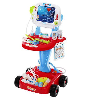 #/ Infantil Doctor Trolley Eléctrico Deslizable Muchos Accesorios 6114