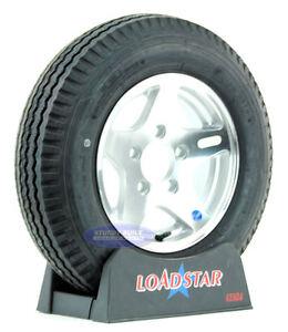 Kenda Loadstar Trailer Tire 5.30 x 12 12 inch Aluminum Wheel 5.30-12 5 Lug