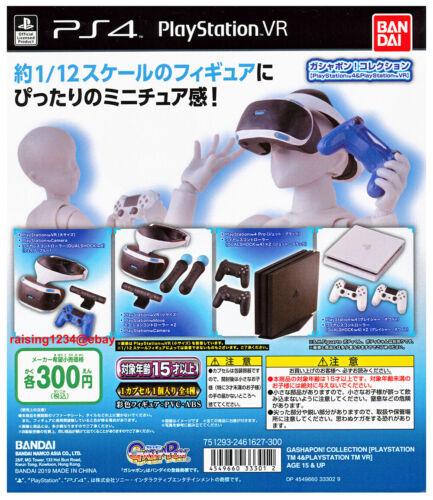 Bandai Gashapon Figure Playstation 4 & VR Console Controller Miniature Full set
