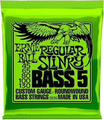 5 Strings Slinky Bass (**ERNIE BALL 5-STRING BASS 50-130 ELECTRIC REGULAR SLINKY STRINGS 2836** )