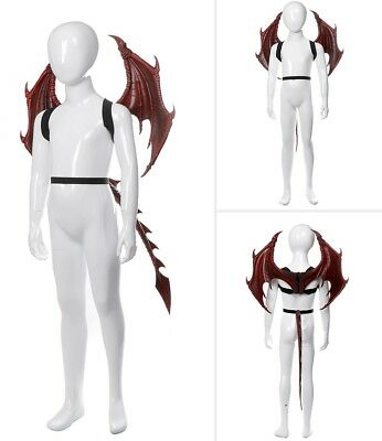 Unisex Halloween Carnival Party Kids Dragon Cosplay Set Wings and Tail Child - Child's Halloween Party