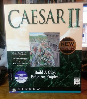 Caesar II  (Mac, 1995) BIG BOX COMPLETE EXCELLENT MAC SYSTEM 7.1 or