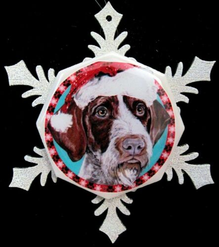 German Wirehaired Pointer Dog Christmas Ornament