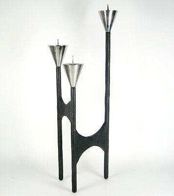 Designer Metall Kerzenständer / Kerzenhalter wohl Bronze 60er 70er Jahre Design