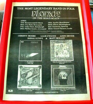 Planxty UK Tour Vintage ORIG 1979 Press/Mag ADVERT Poster-Size Christy Moore