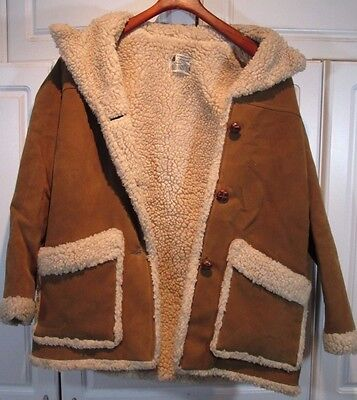 Vintage Made In Usa Fingerhut Fashions Sherpa Brown Womens Sz 12 Jacket Coat