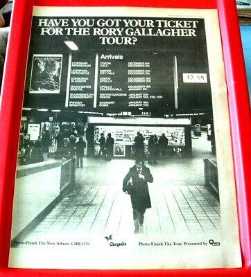 Rory Gallagher UK Tour Vintage ORIGINAL 1978 Press/Magazine ADVERT Poster-Size