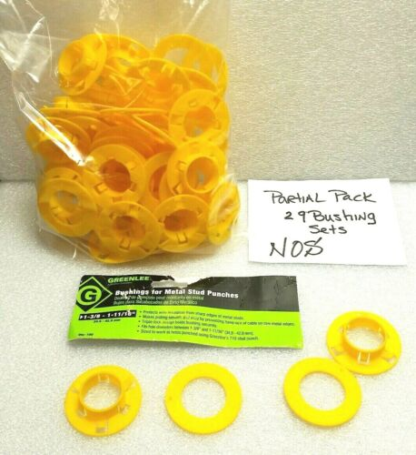 """Greenlee 712a100 Bushings For Metal Stud Punch 1-3/8 - 1-11/16"""", 29 Pc Count"""