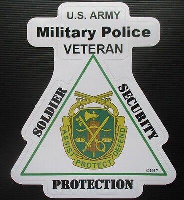 U.S. ARMY MILITARY POLICE VETERAN WINDOW STICKER