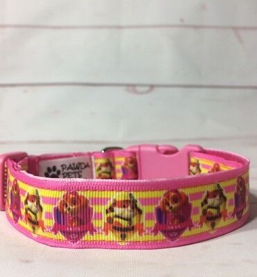 Paw Patrol Dog Collar (Paw Patrol Pink and yellow dog collar and leash with Skye &)