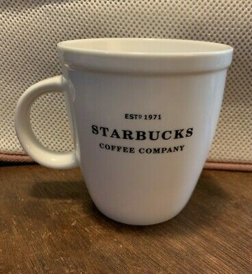 Starbucks Coffee Mug Barista Edition Abbey White Est 1971 logo 2007 Collectible