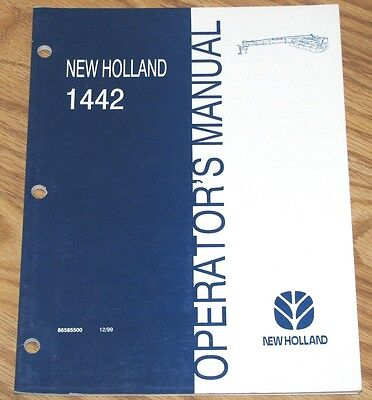 New Holland 1442 Discbine Mower Conditioner Operators Owners Manual 86585500