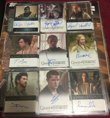 22 Game of Thrones Autographed Rittenhouse Trading Cards season 5 Portman