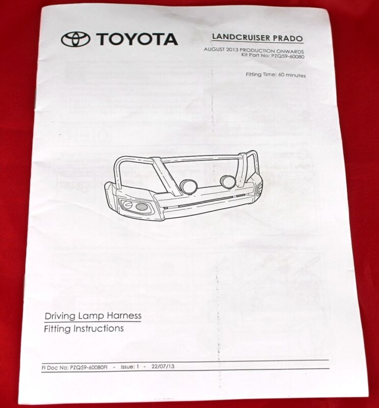 Toyota Prado 150 Series Driving Lamp Wiring Harness Kit Aug 13
