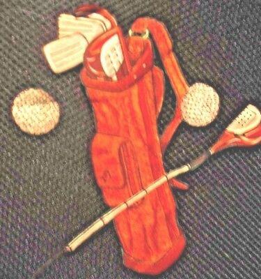 PATCHES- stitch on- golf bag-balls-club
