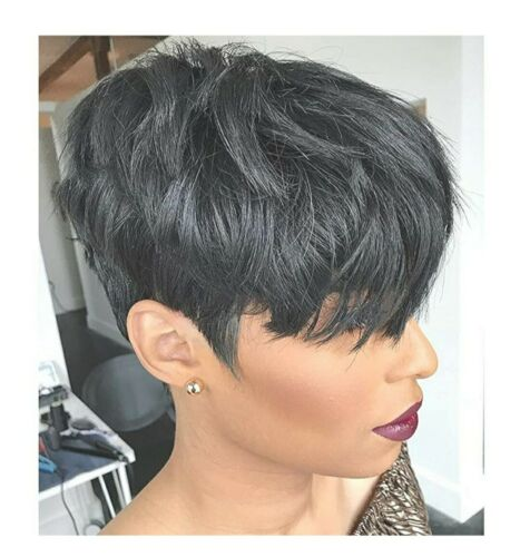 VRZ Short Straight Human Hair Wig Bangs Pixie 100 Remy - EUC - OFFERS WELCOME  - $12.80