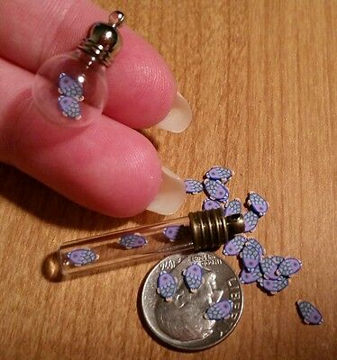 25 TINY Magical FISH & 1 MINI VIAL For a DIY Fish Aquarium Charm Pendant Jewelry