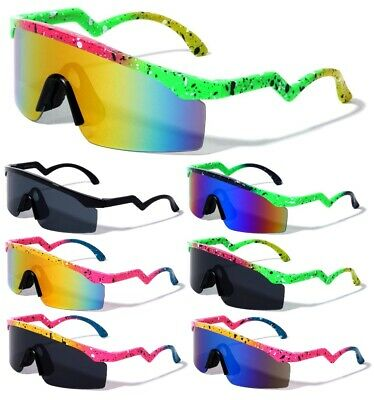 DAYTONA SEMI RIMLESS SHIELD WRAP AROUND SUNGLASSES SPORT OUTDOOR BEACH POLARIZED