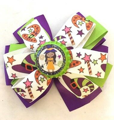 Beautiful Halloween Witch's Hat Inspired Hair Bow