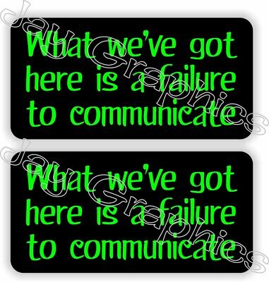 Pair- Hard Hat Stickers Funny Failure To Communicate Welding Helmet Decals