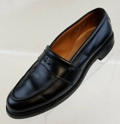 Allen Edmonds Newport Loafers Mens Black Leather Slip On Shoes Size 11B