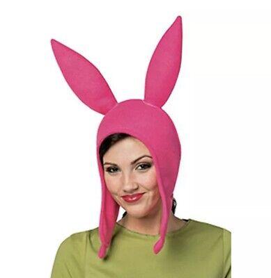 Rasta Imposta Bob's Burgers Deluxe Louise Belcher Costume Pink Bunny Hat $29](Louise Costume)