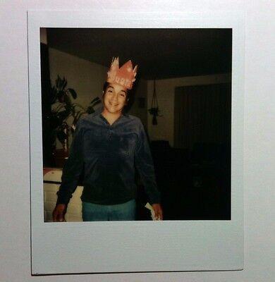Vintage 80er Jahre Gefunden Polaroid Foto Buzzed Bruder Tragen SISTER'S ()