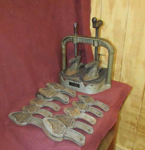 Antique Cast Iron Shoe Press with Vintage Shoes Appeal Ladies