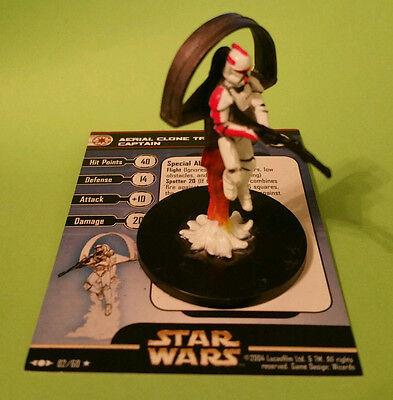 Star Wars Miniature Aerial Clone Trooper Captain 02/60 Clone Strike - RARE!!