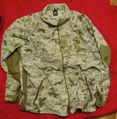 NEW USMC DESERT MARPAT POLARTEC FLEECE WINDPRO JACKET LARGE  for sale  Saint Matthews