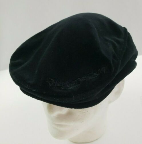 Harley Davidson Motorcycles Scully Cap Newsboy Cabbie Hat Soft Black Size Large