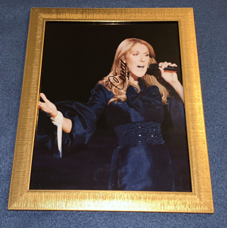 Celine Dion Framed Signed Signature Autographed A New Day Las Vegas Live Photo