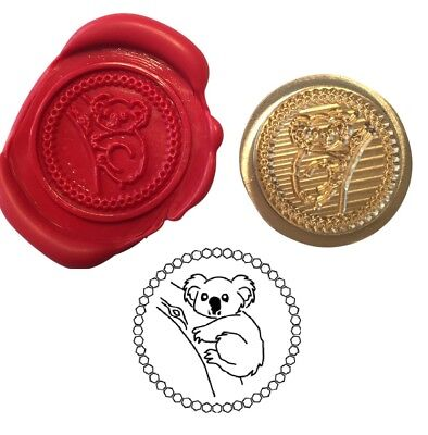 - Koala Bear Australia Wax Stamp Seal Starter Kit or Buy Coin Only XWS039B/XWSC002