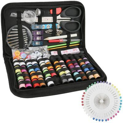 172pc Home Travel Sewing Kit Thread Threader Needle Tape Measure Scissor Thimble