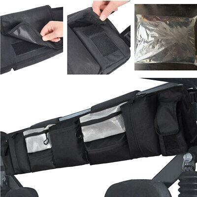Atv Accessories - 1x ATV Accessories Black Front Racks Storage Bag Phones Card Cigarette Organizer