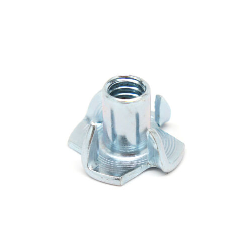 """1/4""""-20 x 7/16"""" Tee Nut 4 Prong Zinc Plated - Select QTY - Wholesale Available"""