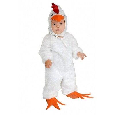 ADORABLE PLUSH FUZZY FARM LITTLE CHICK CHILD UNISEX HALLOWEEN COSTUME SMALL 6-8