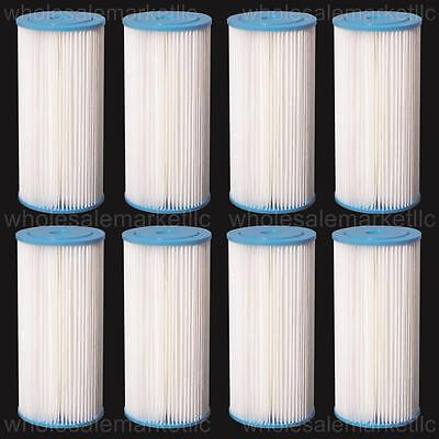 Big Blue Pleated Sediment Water Filters 8 Washable 4.5 x 10 Cartridges -5 Micron