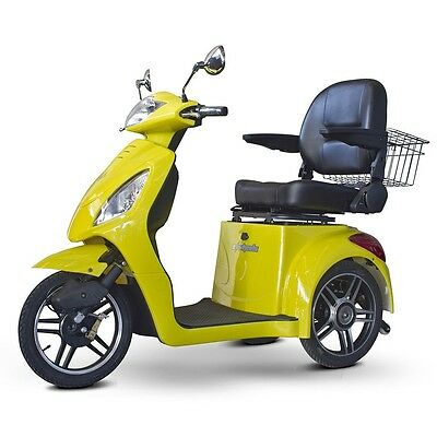 eWheels 3 Wheel Power Scooter, EW 36, Electric, Fast, Mobility Aid - in Yellow