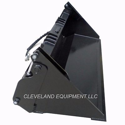 72 Hd 6-in-1 Combination Bucket Skid Steer Attachment Mustang Takeuchi 4-in-1