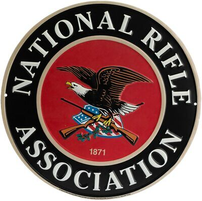 National Rifle Association 1871 Round Embossed Metal Wall Art Sign 12 x 12 Inch