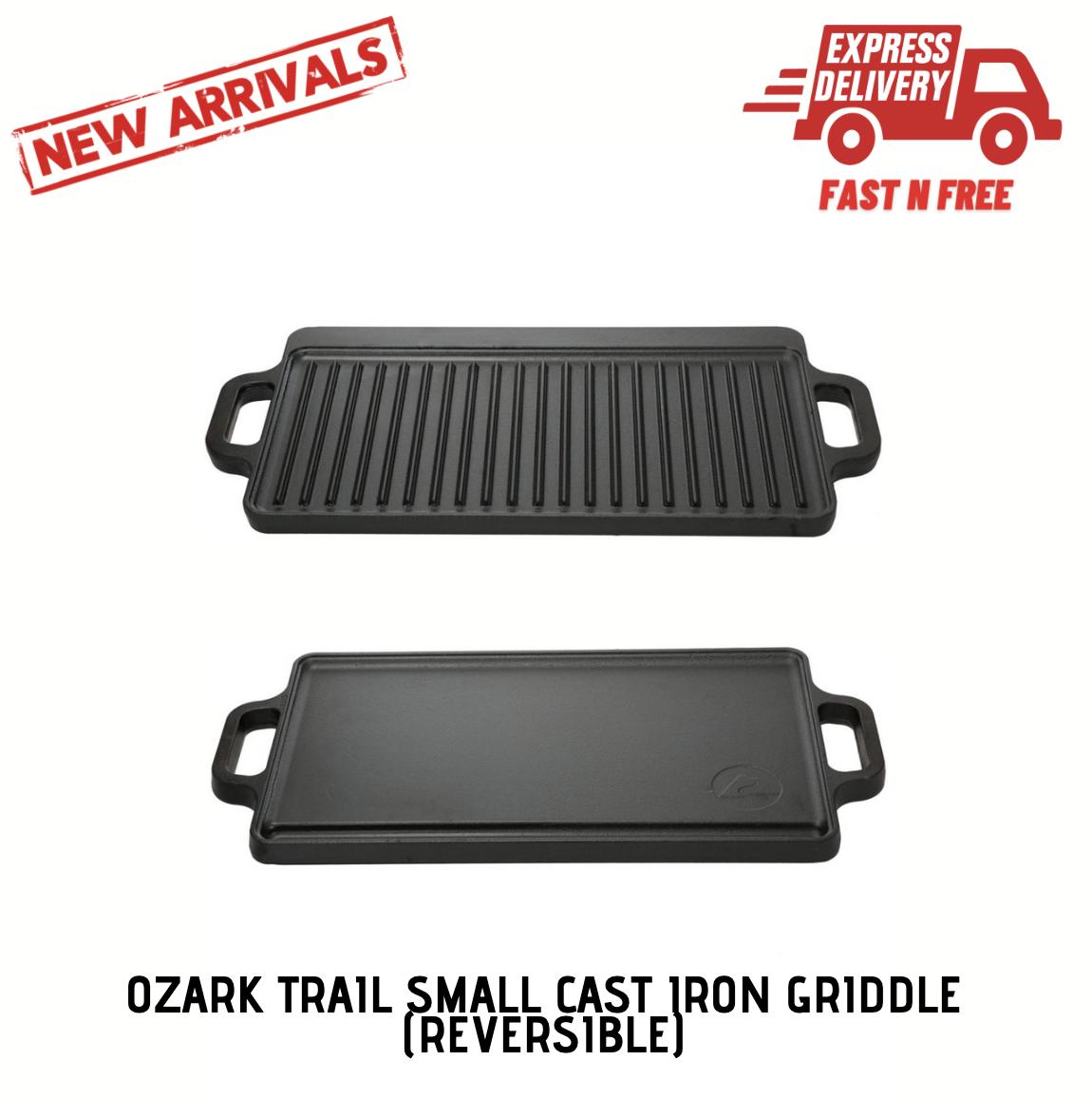 Cast Iron Reversible Grill Griddle 17 x 9 Pan Hamburger Stea