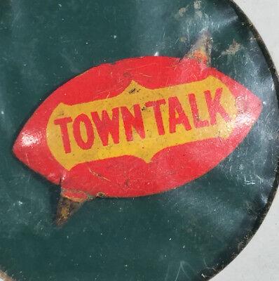 Vintage Town Talk Concave Tobacco Tag