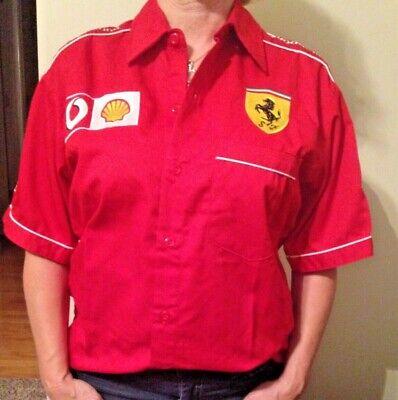 Ferrari Shell Vodafone Formula 1 sports shirt with Ferrari logo on back