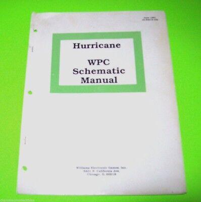 Williams HURRICANE 1991 Original Pinball Machine WPC Schematics Repair Manual