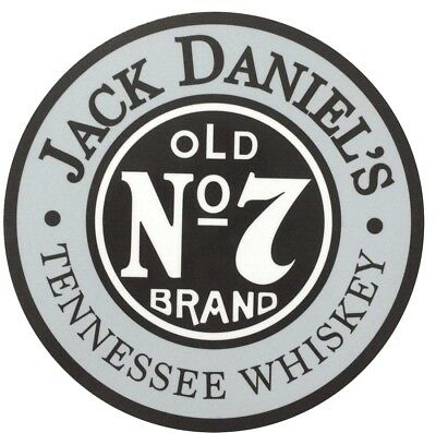 "Jack Daniels Old #7 Tennessee Whiskey 7"" Diameter Metal Sign for sale  Shipping to Canada"