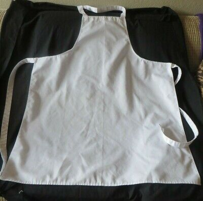 Euc Adult Unisex White Chefs Apron 34 From Top To Bottom. 28.5 Across