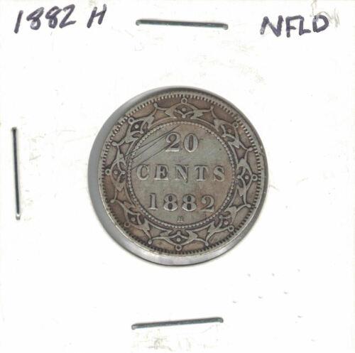 Canada Coins - Newfoundland 20 Cent 1882H   Silver .925