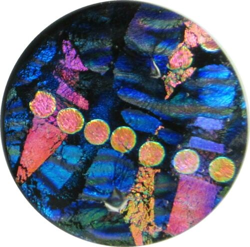 """Dustin 32mm x 32mm"" beautiful hand made Fused Dichroic Glass Cabochon RELEI"